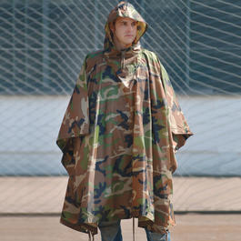 Poncho Ripstop woodland