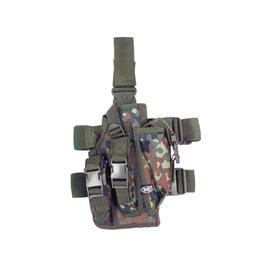 Paintball-Waffen - Pistolenbeinholster, flecktarn