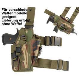 Paintball-Waffen - Pistolenbeinholster, woodland