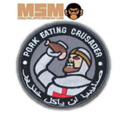 Mil-Spec Monkey Pork Eating Crusader Patch Swat