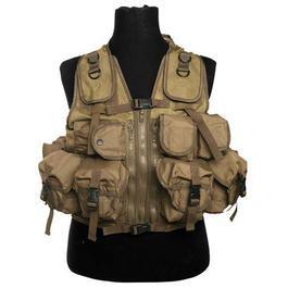Einsatzweste - Einsatzweste Tactical 9 Taschen Mil-Tec coyote