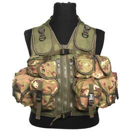 Einsatzweste - Einsatzweste Tactical 9 Taschen Mil-Tec vegetato