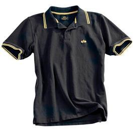 Alpha Industries Polo Shirt Twin Stripes, schwarz