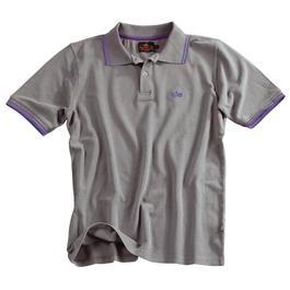 Alpha Industries Polo Shirt Twin Stripes, grau