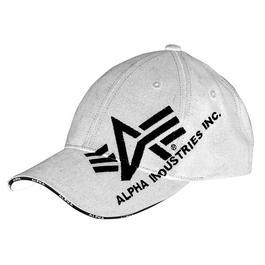 Baseball-Cap Alpha Industries Big A, weiß