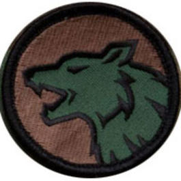 Mil-Spec Monkey Wolf Head Patch Forest