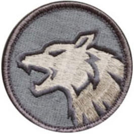 Mil-Spec Monkey Wolf Head Patch ACU-Light