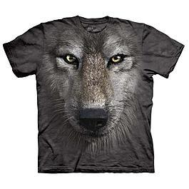 Mountain T-Shirt Wolf Face