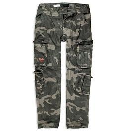 Surplus Hose Airborne Vintage Trousers Slimmy black-camo
