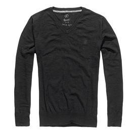 Brandit Pullover London V-Neck Sweat Shirt schwarz