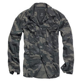 Brandit Hemd Slim Fit Shirt dark camo