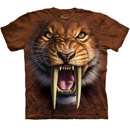 Wildlife T-Shirt Sabertooth Tiger