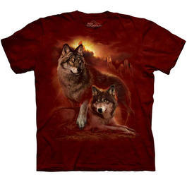 Wildlife T-Shirt Wolf Sunset
