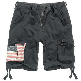 Brandit Urban Legend Shorts Stars & Stripes schwarz
