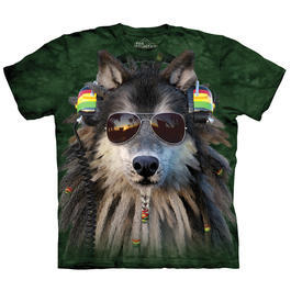 Mountain T-Shirt Rasta Wolf