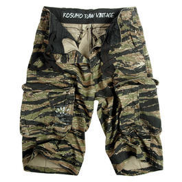 Kosumo Shorts stone washed tiger stripe