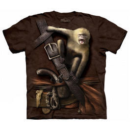 Mountain T-Shirt Pirate with Howler Monkey