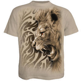Spiral T-Shirt Tribal Lion hellbraun