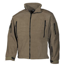 MFH Fleece Jacke Heavy Strike Coyote Tan