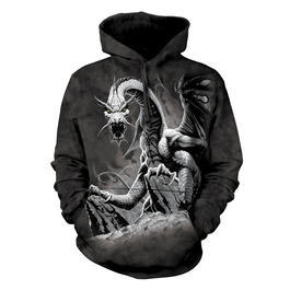 Mountain Kapuzensweatshirt Black Dragon