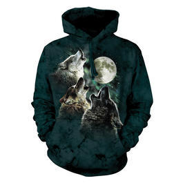 Mountain Kapuzensweatshirt Three Wolf Moon