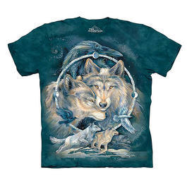 The Mountain T-Shirt In Spirit I Am Free Wolves
