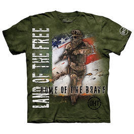 The Mountain T-Shirt Home Of The Brave Oht-Hero