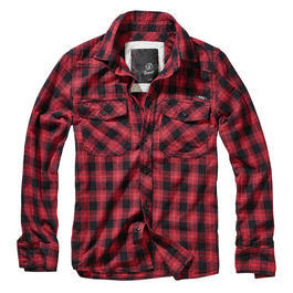 Brandit Hemd Great Creek Checkshirt rot/schwarz