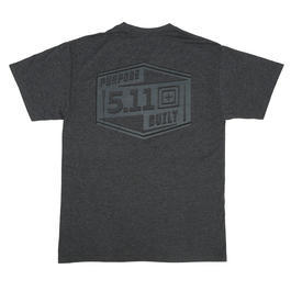 5.11 T-Shirt Purpose Built Tee charcoal heather