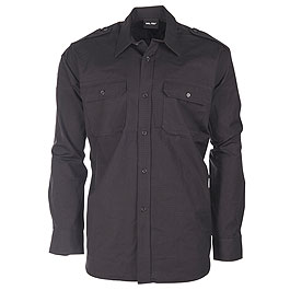 Mil-Tec Ripstop Hemd langarm schwarz