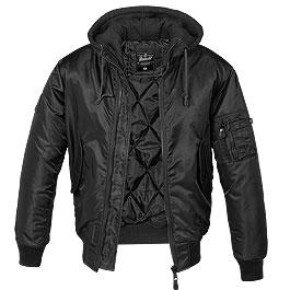 Brandit MA1 Jacke Sweat Hooded schwarz