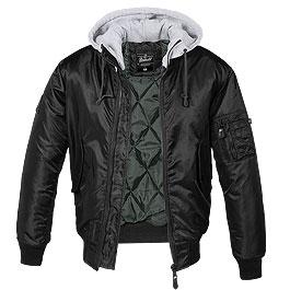 Brandit MA1 Jacke Sweat Hooded schwarz / grau