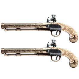 Duellpistolen 2-teilig Dekowaffe