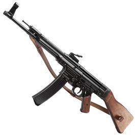 Modell-Waffen - StG 44 Dekomodell aus Metall mit Holzschaft und Gewehrgurt