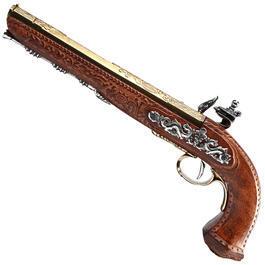 Modell-Waffen - Steinschloss Duellpistole Frankreich 1810 Deko