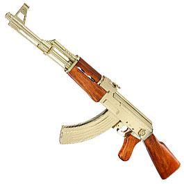 Dekowaffe Kalashnikov AK47 Sadam-Ausführung goldfarben