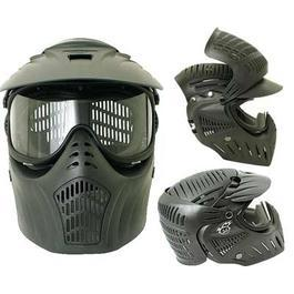 JT X-Ray PROtector Paintball Maske Komplettschutz Single Glas schwarz