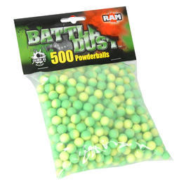 Battle Dust Powderballs Kaliber .43 RAM grün/weiß 500St.
