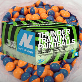 Paintball - New Legion Thunder Paintballs .68 2000er Karton Fülllung Gelb