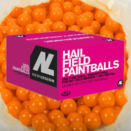 New Legion HAIL Paintballs .68 Karton Orange
