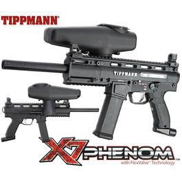 Paint-Ball - Tippmann X7 Phenom E-Pneumat .68 Markierer schwarz