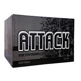 Farbkugeln - Attack Painballs 2000er Karton Kaliber.68 Gelb