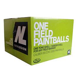 New Legion One Field Paintballs 2000er Karton Kal. .68 gelb