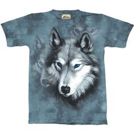 Mountain T-Shirt Wolf Portrait