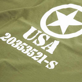 T-Shirt USA oliv
