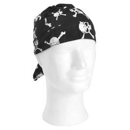 US-Headwrap, Kopftuch Black Bones