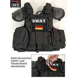 Swat Weste - Combat-Weste MFH schwarz