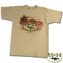 T-Shirt AS-24 Sniper Professional, beige, Frontdruck