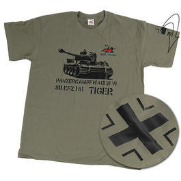 T-Shirt Tiger 505 VI SD. KFZ 181 mit Ärmelapplikation Kreuz