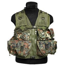 Einsatzweste - US Einsatzweste Tactical Mil-Tec, BW-Flecktarn